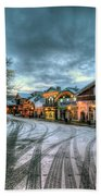 Christmas On Main Street Beach Towel