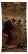 Christmas Prayers Beach Towel by Henry Bacon