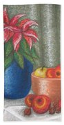 Christmas Rose Beach Towel