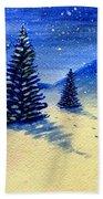 Christmas Snow Beach Towel