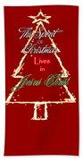 Christmas Spirit Beach Sheet