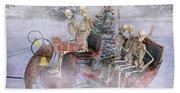 Christmas Spirits Heading To Topsail Island Nc Beach Sheet