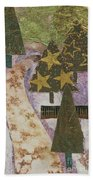 Christmas Stroll Card Beach Towel