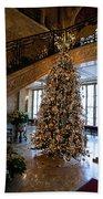 Christmas Tree And Staircase Marble House Newport Rhode Island Beach Towel