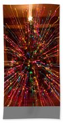 Christmas Tree Colorful Abstract Beach Towel