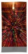 Christmas Tree Colorful Abstract Beach Sheet