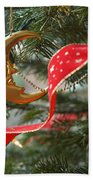 Christmas Tree Decorations Beach Towel