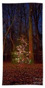 Christmas Tree In Forest Beach Towel