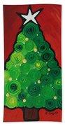 Christmas Tree Twinkle Beach Towel