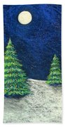 Christmas Trees In The Snow Beach Towel
