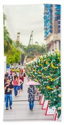 Christmas Trees Beach Sheet