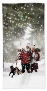 Christmas Walking Beach Towel