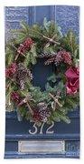 Christmas Wreath Beach Towel