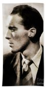 Christopher Lee, Vintage Actor Beach Towel