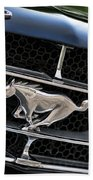 Chrome Stallion - Ford Mustang Beach Towel