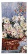 Chrysanthemums, 1878  Beach Towel