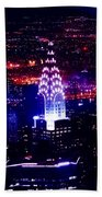 Chrysler Building At Night Beach Towel