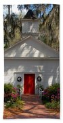 Church At Micanopy Beach Towel