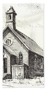 Church Bodie Ghost Town California Beach Towel