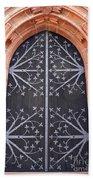 Church Door In Eltville Beach Towel