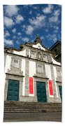 Church In Ribeira Grande Beach Towel