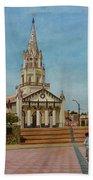 Church Of Caldera Beach Towel
