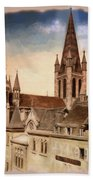 Church Of Notre-dame Of Dijon France - Remastered Beach Towel