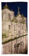 Church Of Saint Lawrence By Night In Porto Beach Towel