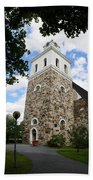 Church Of The Holy Cross At Rauma Beach Towel