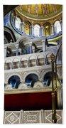 Church Of The Holy Sepulchre Interior Beach Towel