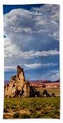 Church Rock Thunderhead Beach Towel
