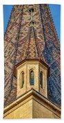 Church Spire Details - Romania Beach Towel