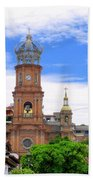 Church Steeples In Puerto Vallarta Beach Towel