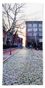 Church Street Cobblestones - Philadelphia Beach Towel by Bill Cannon