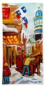 Church Street In Winter Beach Towel