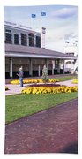 Churchill Downs Paddock Area Beach Towel