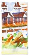 Churchill Downs Watercolor Beach Towel