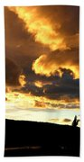 Churning Clouds 1 Beach Towel