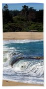 Churning Surf At Monastery Beach Beach Towel
