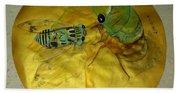 Cicada On Gold Beach Towel
