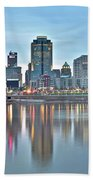 Cincinnati At Dusk Beach Towel