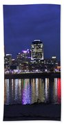 Cincinnati Night Lights Beach Towel