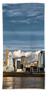Cincinnati Skyline Hdr Beach Towel