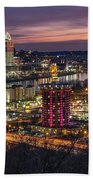 Cincinnati Sunrise Beach Towel