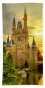Cinderella Castle - Monet Style Beach Towel