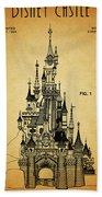 Cinderella Castle Patent Beach Towel