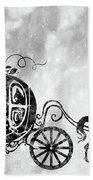 Cinderella's Carriage-black Beach Towel
