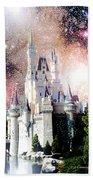 Cinderella's Castle, Fantasy Night Sky, Walt Disney World Beach Towel