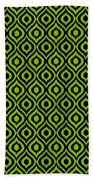 Circle And Oval Ikat In Black N09-p0100 Beach Towel