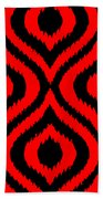 Circle And Oval Ikat In Black T02-p0100 Beach Towel